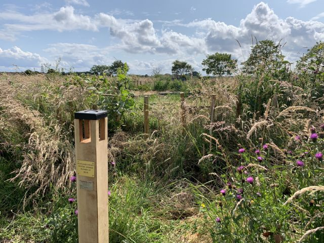 Magpost (prize) installed at Bat's Wood